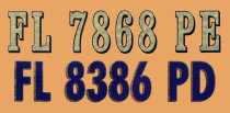 State and Federal registration numbers and plaques